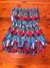 CITY CHIC MULTI COLOURED FLORAL STRAPLESS DRESS  SIZE: L BNWOT RRP:$159.95