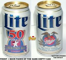 MILLER LITE PACIFIC ISLAND GUAM 50yr LIBERATION DAY BEER CAN MILWAUKEE,WISCONSIN