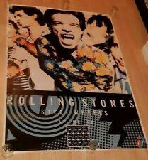 ROLLING STONES STEELS WHEELS RELEASE POSTER 1989