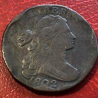 1802 Draped Bust Large Cent Better Grade  Rare #13617
