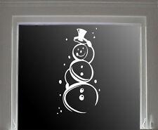 wall stickers custom colour christmas snow man window Xmas Vinyl decor decal