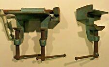 Endlos Schraubstock 2-teilig Backenbreite ca. 7 cm Werkbank Bastler Mechanik