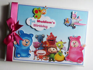 Personalised Baby TV girls birthday guest book, Baby TV album, gift for girl