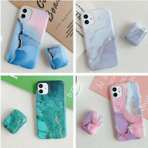 Geometric Marble Protective Case Cover For Airpods Pro 1 2 iPhone 7 X 11 12 13