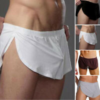 Gay Men's Silky Soft Semi-Sheer Chiffon Open Sides Boxers Short Shorts Underwear
