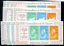 BRITISH ST. VINCENT - GRENADINES Mi # 83/110, Complete Set, MNH