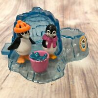 Kenner 1995 Littlest Pet Shop Pete & Penny Penguin With Icy Igloo Sea World