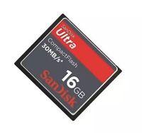 New SanDisk 16GB Ultra 30MB/S CompactFlash CF Memory Card SDCFH-016G