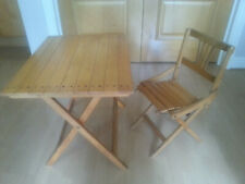 Vintage Kids Beech Foldable Table and matching Foldable Chair