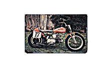 Aermacci Cr250 Motorbike Sign Metal Retro Aged Aluminium Bike