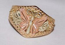 Black Hills Gold Butterfly Leaves Ring 10 kt 12 kt Size 7 1/2 South Dakota Gold
