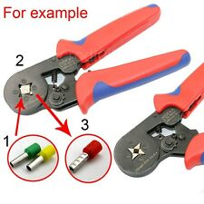 Self-adjustable Ratchet Crimper Plier Crimping Tool Kit Cable Wire Terminals New