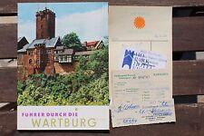 28163 Führer durch die Wartburg  mit Kurgarte Gästeausweis  Hotelquittung 1974