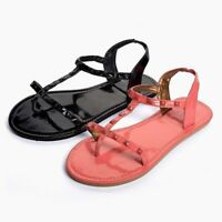 NEW LADIES BEACH SANDALS AVAILABLE IN BLACK OR CORAL SIZE 3-4 5-6 7-8 FLATS