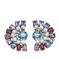 Rarities Carol Brodie Apatite, Cultured Freshwater Pearl Multigemstone Earrings