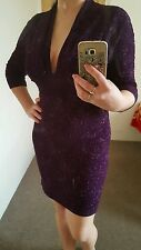 purple dress size 8 new prom evening Xmas party wedding cocktail