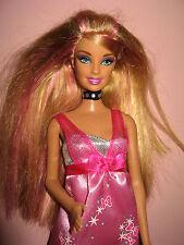 B193) dulce rubio-rosa, me encantaría ser rockstar barbie mattel 2007+ botas rosa