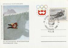 1964 Austria card - 9th Winter Olympic Games Innsbruck - Axalis