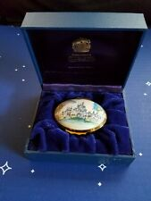 Halcyon Days Disneyland 45 Yrs Sleeping Beauty Castle Enamel Box