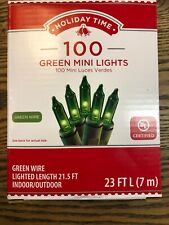 Holiday Time 100 Green Mini Lights