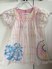 Misha Lulu Sz 4 Short Sleeved Multi Colored Dress