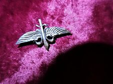 Antique silver military possibly SAS or Israeli special forces small badge pin