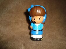 2013 Mattel Fisher Price Little People Girl in blue dress and Headset PVC Figure