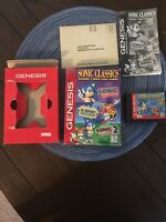 Sonic Classics video game for Sega Genesis with original box and manual CIB Comp