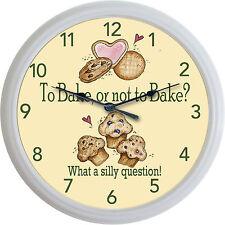 "Bake Baking Bakery Wall Clock Cake Cookies Cupcakes Muffins New 10"""