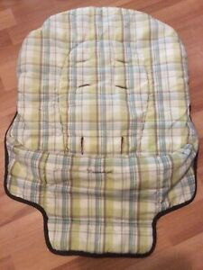 Graco High Chair Insert Cover Part Replacement Brown Green White