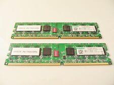 2 BARETTES MEMOIRE PC RAM MEMORIE 2x1GB DDR2 KLCD48F-A8KL5 KINGMAX -667MHz
