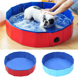 Outdoor Portable Dog Swimming Pool Pet Bath Paddling Pool for Kids Large Dog Tub