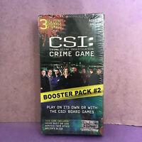 NEW SEALED CSI Crime Scene Investigation Game &  Booster Pack #2