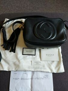 Gucci Soho Disco Bag Authentic Genuine Black Leather