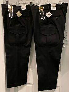 "Lot of 2 Flying Cross Ladies Cargo Pocket Trouser Black Size 16 Reg 27"" Inseam"