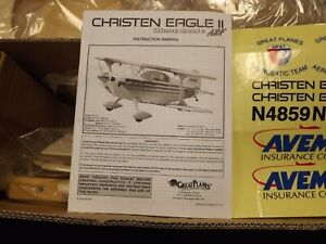 GREAT PLANES CHRISTEN EAGLE 2 RTC NIB VINTAGE