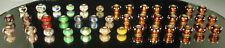 (40) STERLING MURANO Charms Beads Lot EUROPEAN Slides Lampwork Art Glass 20 NWOT