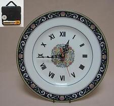 "Wedgwood ""Runnymede"" 10.75"" Wall Hanging Plate CLOCK"