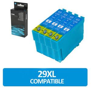 4 IJ cyan non-oem cartridge for use in Epson Xp-245 Xp-247 Xp-342 Xp-345 Xp-442