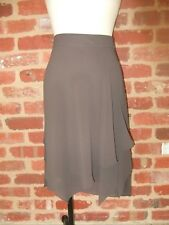 SUSSAN LADIES 12 BROWN A LINE SKIRT SOFT SHEER LAYERS FEMININE POLYESTER