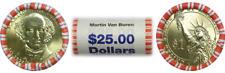 2008 D $1 Martin Van Buren Presidential $25 Face Bank Wrap Roll Uncirculated