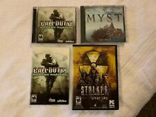"(3) PC Games:  STALKER ""Clear Sky & Call of Duty 4 ""Modern Warfare"" & MYST"