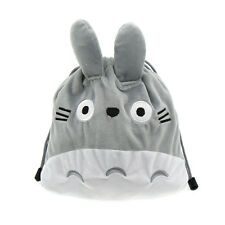 Anime Totoro Plush Drawstring Storage Bag Coin Purse Cosmetic Pouch Kids Gift