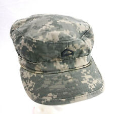ROTC Cadet PFC Mao Camouflage Cap Sz 7 1/2 with Private First Class Pin Hat
