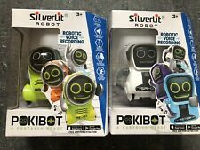 Silverlit Pokibot Interactive Mini Robot - 2 Colours. Both Included