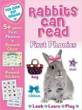Too Cute for School - Rabbits Can Read: First Phonics (Fluffy Friends), New, Nin