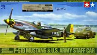 NEW TAMIYA North American P-51D MUSTANG & US ARMY STAFF CAR 1/48 scale kit