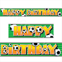 12ft Soccer Football Party Happy Birthday Banner Bunting Boys Party Decorations