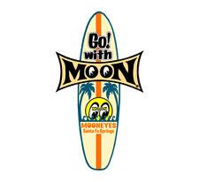 Mooneyes Surfboard Aufkleber Tiki Go With MOON Hawai Woodie Surf Hot Rodding Bug