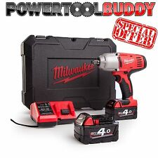 "Milwaukee HD18HIWF-402C 18V 1/2"" Drive Friction Ring Impact Wrench Kit 2 x 4.0Ah"
